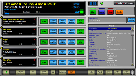 SVC Player - Software zur Bedienung der Music Engine